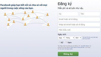 Hướng dẫn đăng ký tài khoản facebook