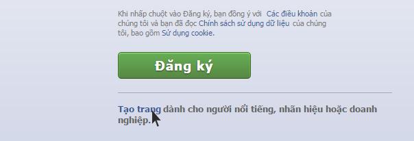 Ảnh 2: Tạo fanpage facebook