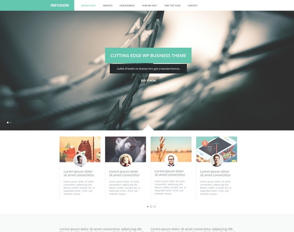 Infusion - One Page Business Portfolio Template