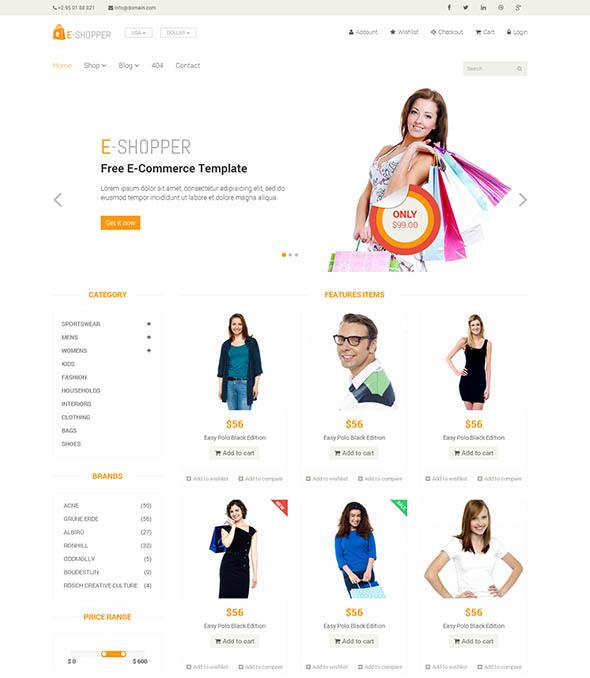 HTML Template Responsive bán hàng miễn phí