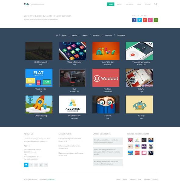 Design Showcase HTML Portfolio Template