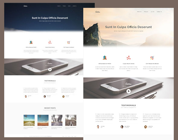 Kinh ngạc với Template Website HTML5/CSS3