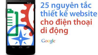 25 nguyên tắc thiết kế website cho điện thoại di động