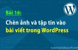 Bài16: Chèn ảnh và tập tin vào bài viết trong WordPress