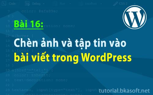 Chèn ảnh và tập tin vào bài viết trong WordPress