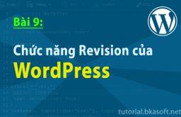 Bài 9: Chức năng Revision của WordPress