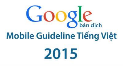 Google Mobile Guideline Tiếng Việt