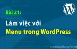 Bài 21: Làm việc với Menu trong WordPress