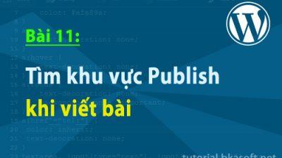 Bài 11: Tìm hiểu khu vực Publish khi viết bài