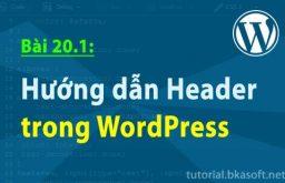 Bài 20.1: Hướng dẫn Header trong WordPress