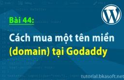 Bài 44: Cách mua một tên miền (domain) tại Godaddy