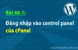 Bài 48.1: Đăng nhập vào Control Panel của cPanel