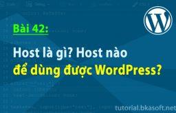 Bài 42: Host là gì? Host nào để dùng được WordPress?