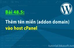 Bài 48.5: Thêm tên miền (addon domain) vào host cPanel