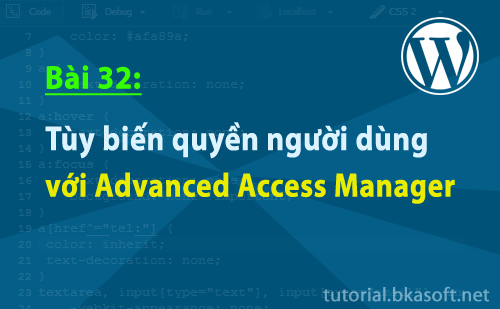 Tùy biến quyền người dùng với Advanced Access Manager