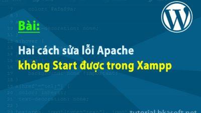 Hai cách sửa lỗi Apache không Start được trong Xampp