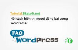 Hỏi cách hiển thị người đăng bài trong WordPress?