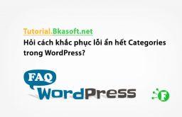 Hỏi cách khắc phục lỗi ẩn hết Categories trong WordPress?