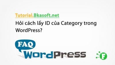 Hỏi cách lấy ID của Category trong WordPress?