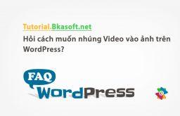 Hỏi cách muốn nhúng Video vào ảnh trên WordPress?