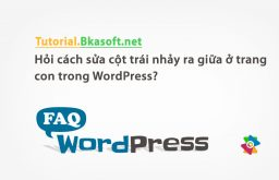 Hỏi cách sửa cột trái nhảy ra giữa ở trang con trong WordPress?
