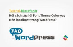 Hỏi cách sửa lỗi Font Theme Colorway trên localhost trong WordPress?