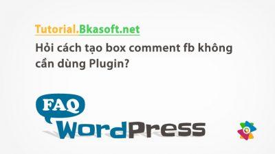 Hỏi cách tạo box comment fb không cần dùng Plugin?