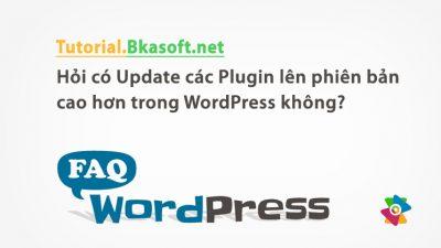 Hỏi có Update các Plugin lên phiên bản cao hơn trong WordPress không?
