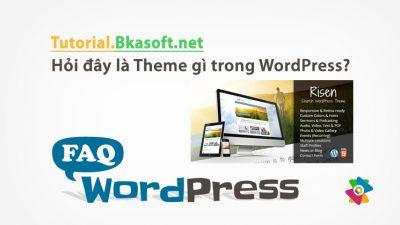 Hỏi đây là Theme gì trong WordPress?