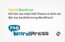 Hỏi làm sao nhận biết Theme có dính mã độc hay backlink trong WordPress?