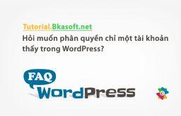 Hỏi muốn phân quyền chỉ một tài khoản thấy trong WordPress?