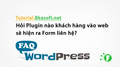 Hỏi Plugin nào khách hàng vào web sẽ hiện ra Form liên hệ?
