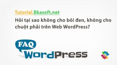 Hỏi tại sao không cho bôi đen, không cho chuột phải trên Web WordPress?