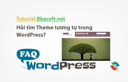 Hỏi tìm Theme tương tự trong WordPress?