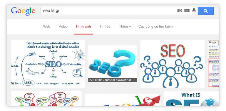 Ảnh 2. SEO hình ảnh trên Google