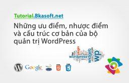 Những ưu điểm, nhược điểm và cấu trúc cơ bản của bộ quản trị WordPress