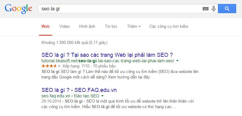 Thứ hạng từ khóa SEO là gì và SEO la gi trên Google