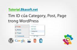 Tìm ID của Category, Post, Page trong WordPress