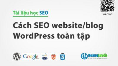 Đào tạo SEO WordPress miễn phí