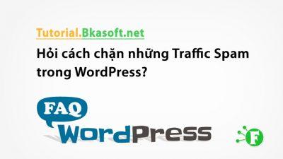 Hỏi cách chặn những Traffic Spam trong WordPress?
