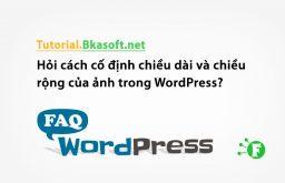 Hỏi cách cố định chiều dài và chiều rộng của ảnh trong WordPress?