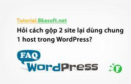 Hỏi cách gộp 2 site lại dùng chung 1 host trong WordPress?