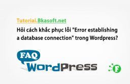 "Hỏi cách khắc phục lỗi ""Error establishing a database connection"" trong WordPress?"