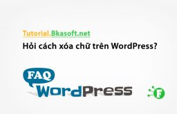 Hỏi cách xóa chữ trên WordPress?