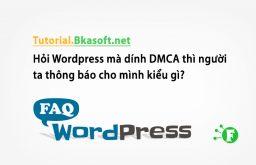 Hỏi WordPress mà dính DMCA thì người ta thông báo cho mình kiểu gì?