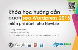 Khóa học hướng dẫn cách SEO WordPress 2015 miễn phí