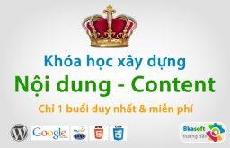 Khóa học xây dựng nội dung & content online miễn phí #1