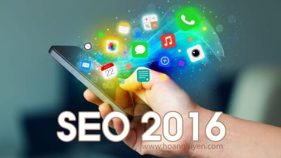 Xu hướng SEO 2016 và cách SEO mới
