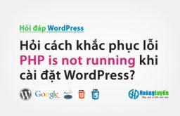 Hỏi cách khắc phục lỗi PHP is not running khi cài đặt WordPress?