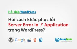 Hỏi cách khắc phục lỗi Server Error in '/' Application trong WordPress?